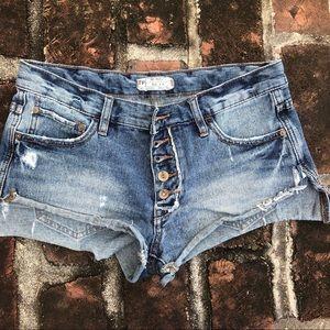Free people cutoff denim jean shorts size 25